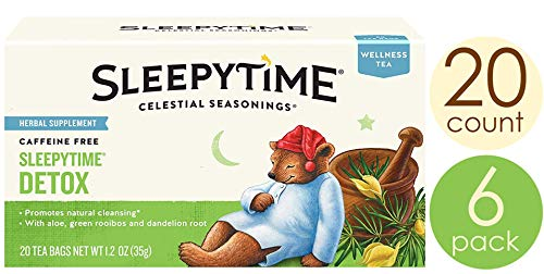 Celestial Seasonings Wellness Tea, Sleepytime Detox, 20 Count Box (Pack of 6)