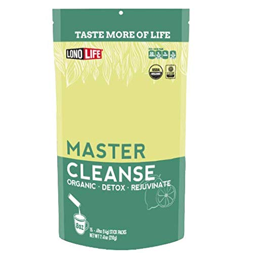 LonoLife Master Cleanse Powder-Lemonade Detox Diet with Lemon, Maple Syrup, and Cayenne, Stick Packs, 15 Count