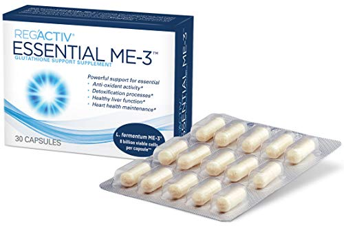 Reg'Activ Essential ME-3, 30 Capsules. A Glutathione-producing Probiotic That Delivers Glutathione to The Intestine for Efficient Guthatione Supplementation