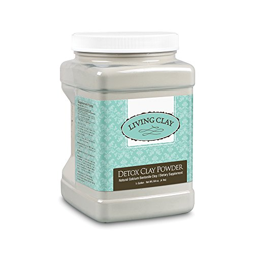 Living Clay Detox Clay Powder | All-Natural Bentonite Calcium Clay for Internal & External Deep Cleansing | Perfect for Mask, Bath or Wrap | .5 Gal