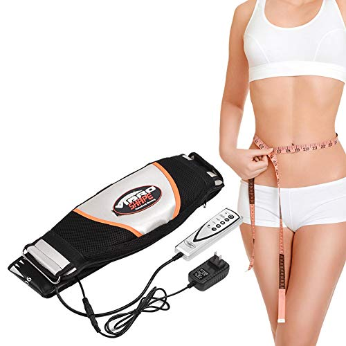 Jonlaki Waist Massager, Electric Vibrating Massager Slimming Belt Weight Lose Magnet Belt Fat Burner Body Shake Belt Lose Weight Shake Belt Waist Trainer Belly Vibro Shape Vibrating Heating Belt