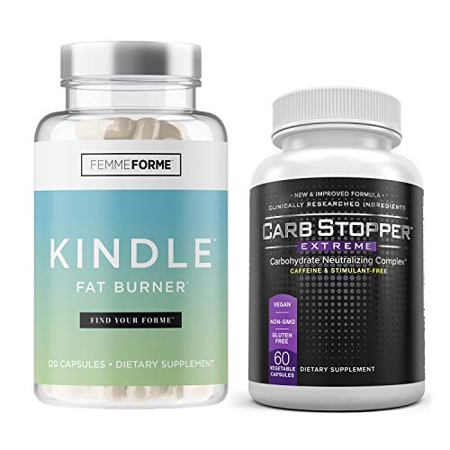 Femme Forme Kindle (120 Caps) & Carb Stopper Extreme (60 Caps): Hardcore Thermogenic Fat Burning Bundle for Women | Advanced Weight Loss Supplement Stack | Stop Carbs, Sugars from Ruining Your Diet