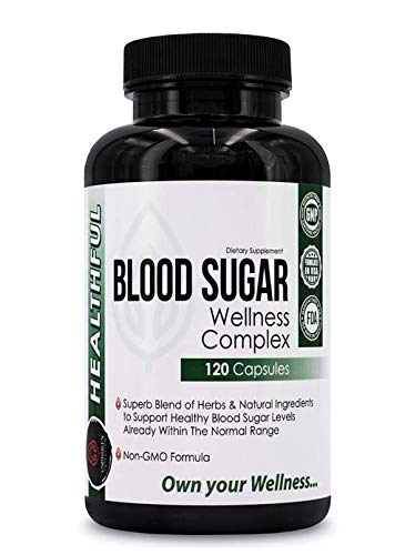 Blood Sugar Wellness Complex -with Effective and Potent Herbs and Natural Ingredients to Support & Promote Healthy Blood Sugar Levels, Weight Loss and Insulin Levels-.