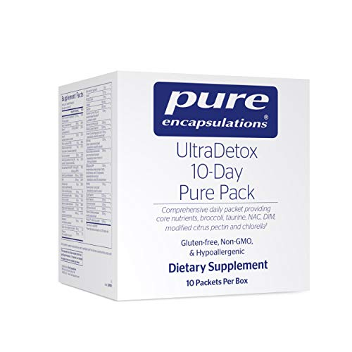 Pure Encapsulations - UltraDetox 10-Day Pure Pack Providing Core Nutrients, Broccoli, Taurine, NAC, DIM, Modified Citrus Pectin and Chlorella - 10 Packets