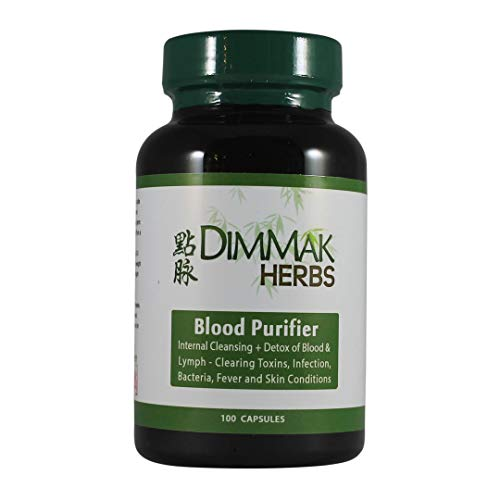 Dimmak Herbs Blood Purifier Detox Herbs, 650mg Capsules – Lab Tested Natural Herbs for Detoxing Blood and Lymph Cleansing – 100 Count