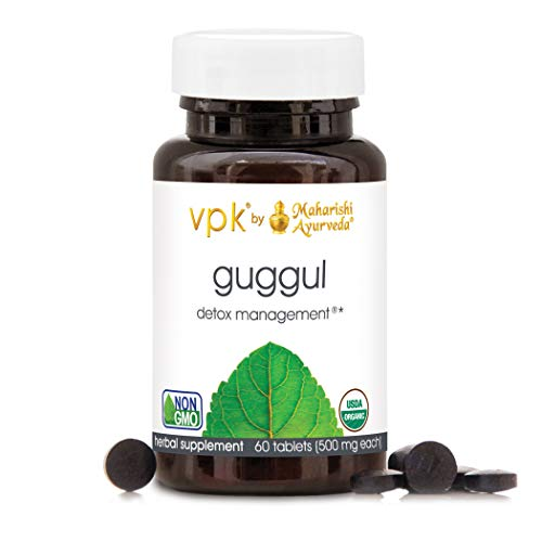 Organic Guggul - 60 Herbal Tablets - 500 mg ea. | Rejuvenate & Cleanse The Lymph System | Strengthens Joint Mobility | Liver Detox