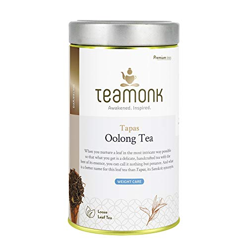 Teamonk Tapas Oolong Tea Loose Leaf (75 Cups) | Premium Oolong Tea | Weight Loss Tea | Slimming Tea | Pure Loose Leaf Tea | No Additives - 5.2oz