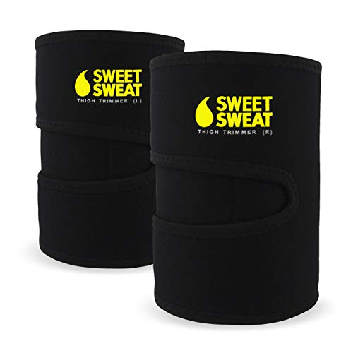 Sweet Sweat Thigh Trimmers for Men & Women ~ Increases Heat and Sweat Production to The Thigh Area ~ Includes Mesh Carrying Bag (Yellow, Med: 29' L x 8' W)