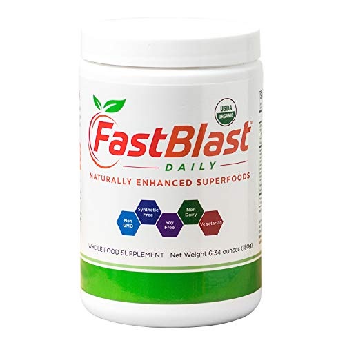 FastBlast Daily Essentials | Fermented Organic Superfood Powder for Health & Vitality | Supports Brain, Heart, Immune, Digestive Systems