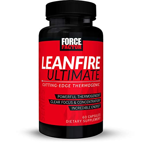 Force Factor LeanFire Ultimate Thermogenic Fat Burner with Capsimax, Added Energy, Focus, Concentration, 60 Count