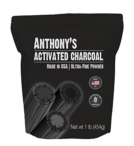 Anthony's Activated Charcoal, 1 lb, Made in USA, Ultra Fine, Gluten Free & Food Grade