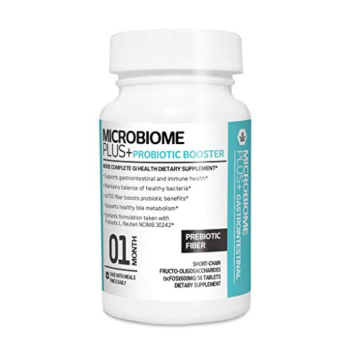 Microbiome Plus Prebiotics scFOS Prebiotic Fiber, Boosts Probiotic Benifits, GI Digestive Supplements, Allergy Safe and Gluten-Free for Men and Women (1 Month Supply) (1)