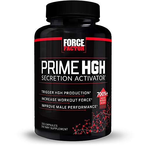 Force Factor Prime HGH Secretion Activator, Increase Workout Force, and Improve Athletic Performance, 150 Capsules