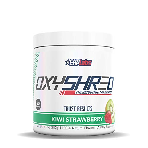 EHPlabs OxyShred Thermogenic Fat Burner Boost Metabolism, Low Stimulant, Destroy Stubborn Fat Cells (Kiwi Strawberry)
