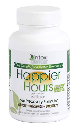 Intox-Detox – An Effective and All Natural Hangover Remedy | Organic Herbal Supplement for Alcohol Detox and Liver Protection | Take Pre-Hangover Pills to Prevent Headaches, Nausea and Liver Damage