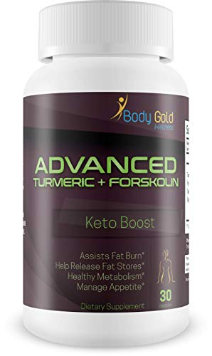 Turmeric + Forskolin Weight Loss - Advanced Turmeric - Advanced Formula - Keto Boost - Assist Fat Burn - Helps Release Fat Stores - Healthy Metabolism - Manage Appetite - Find your true waist