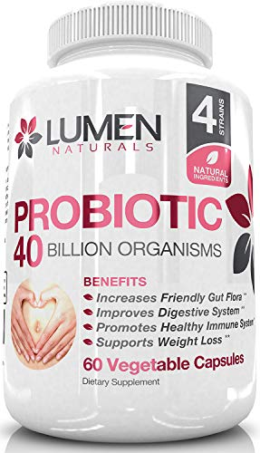 Probiotics for Women 40 Billion - Extra Strength Probiotics to Boost Gut Health and Immune Support - Womens Probiotic with Lactobacillus Acidophilus - 60 Count