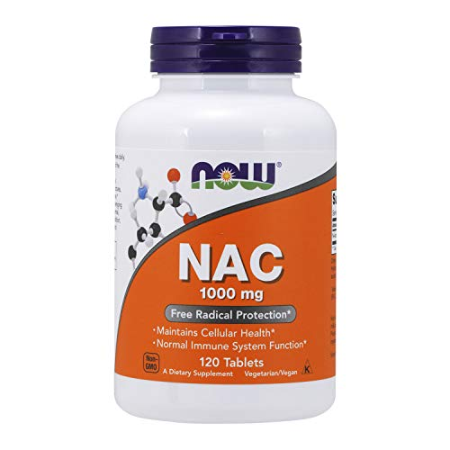 NOW Supplements, NAC (N-Acetyl-Cysteine) 1,000 mg, Free Radical Protection*, 120 Tablets
