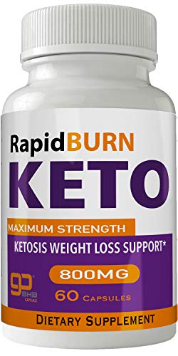 Rapid Burn Keto Diet Pills Advanced Energy Ketones with Go BHB Capsules Ketones Ketogenic Supplement for Weight Loss Pills 60 Capsules 800 MG GO BHB Salts to Help Your Body Enter Ketosis More Quickly