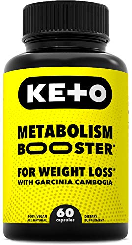 Advanced Metabolism Booster and Carb Blocker - Keto Diet Pills for Weight Loss with Raspberry Ketones and Pure Garcinia Cambogia Extract- Best Natural Fat Burner - for Men and Women - 60 Capsules
