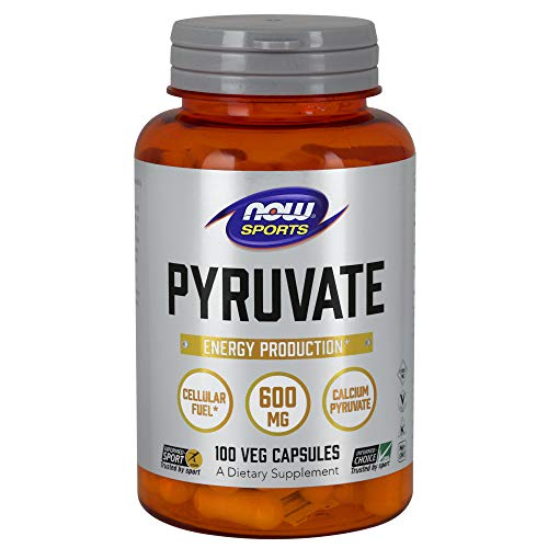 NOW Sports Nutrition, Pyruvate (Pyruvic Acid) 600 mg, Energy Production*, 100 Capsules
