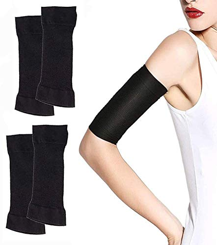 2 Pairs Arm Slimming Shaper, Arm Compression Wrap Sleeve, Arm Sleeve for Women Weight Loss Upper Arm Shaper Helps Lose Arm Fat Toneup Arm Shaping Sleeves for Beauty Women