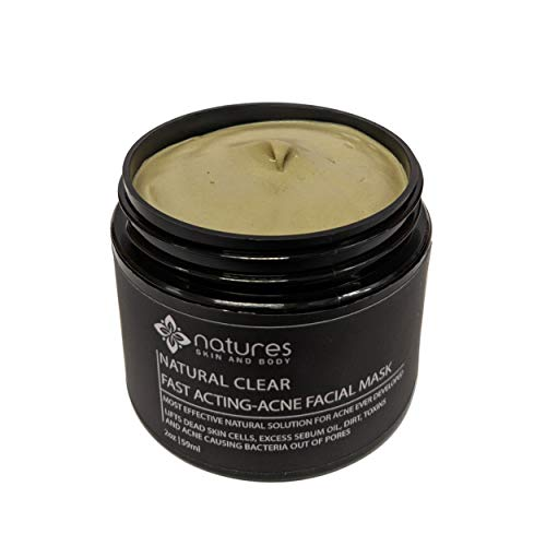 Natural Clear-Acne Treatment Mask-Works Better Than Benzoyl Peroxide And Salicylic Acid. Immediately Absorbs Excess Sebum Oil, Dirt, Toxins And Bacteria. Also Effective For Spots And Scars.