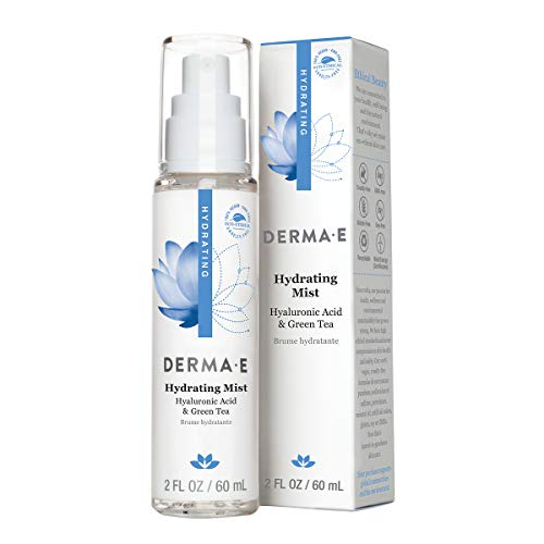 DERMA E Hydrating Face Mist with Hyaluronic Acid, 2 oz