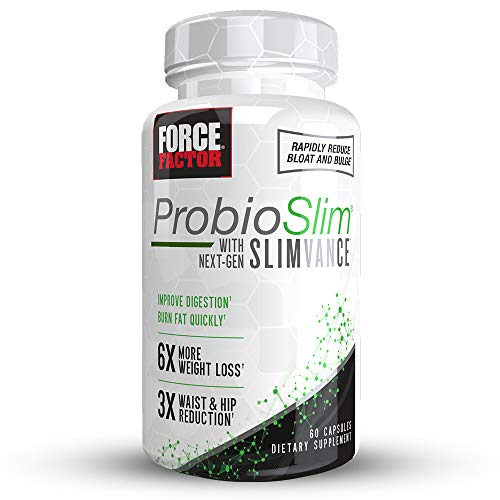 ProbioSlim with Next-Gen SLIMVANCE, Advanced Thermogenic + Probiotic Fat Burner, Boost Metabolism, Improve Digestion, Reduce Bloat & Bulge, Force Factor, 60 Capsules