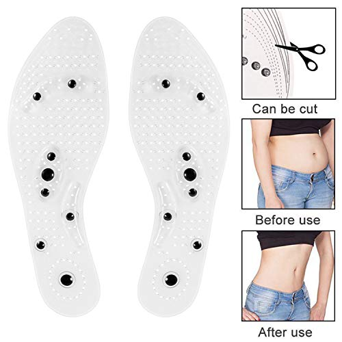 Insole for Men and Women Acupressure Magnetic Insoles for Feet Massage Foot