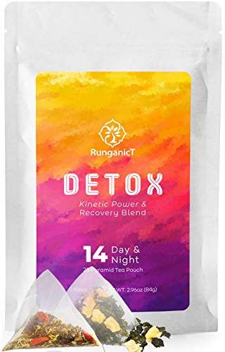 14 Days & Nights Detox Tea 28 Teatox teabags - Reduces Bloating Burns Fat Cleanses Colon Releases Toxins, Energizes The Body, Improves Focus & Boost Metabolism, Calms The Body for Resting at Night