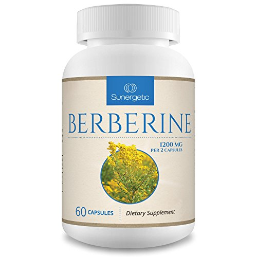 Premium Berberine Supplement -1,200 mg of Berberine Per Serving – Non-GMO Berberine HCI Supplement- Powerful Berberine Health Formula - 60 Berberine Capsules