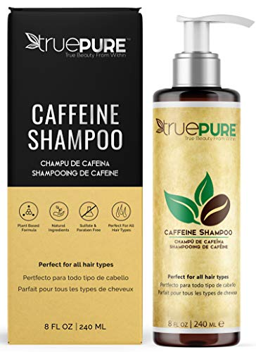 TruePure Natural Caffeine Shampoo, Treatment Contains No Sulfates or Fragrance For Healthy Hair Growth and Hair Loss Prevention, Unisex Dht Blocking Formula For Normal To Thin Looking Hair, 8oz