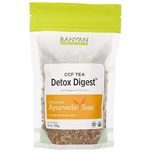 Banyan Botanicals Detox Digest CCF Tea – Organic Turmeric Ginger Tea – Ayurvedic Tea for Digestion and Cleansing* – 6oz. – Non-GMO Sustainably Sourced Herbal Loose Leaf Tea