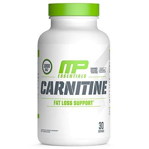 MP Essentials Carnitine Core Capsules, Carnitine Capsules, MusclePharm Weight Loss, Helps Reduce Body Fat, Supports Athletic Performance and Endurance, 30 Servings