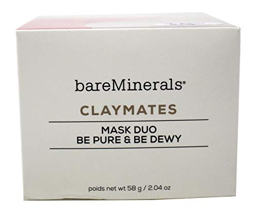 Bareminerals Claymates Mask Duo Be Pure & Be Dewy 2.04 Ounce