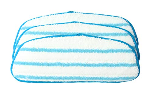 Surrgound Reusable Wet Mop Pad Fit Dirt Devil Steam Mop, Replacement with AD51000, 3pk