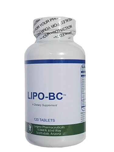 LIPO BC 120 Tablets - Pro Size - Mobilize Fat with Vitamins not Speed. Pharmaceutic Grade LIPO-BC Supplement. Lipotrophic Weight Loss Supplement