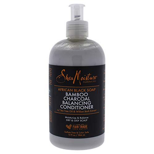 SheaMoisture African Black Soap Bamboo Charcoal Balancing Conditioner, 13 Fluid Ounce