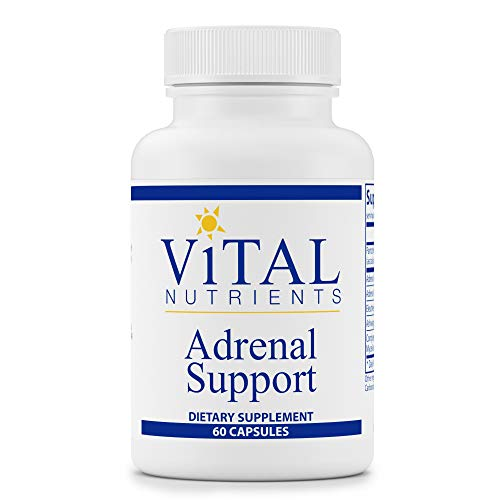 Vital Nutrients - Adrenal Support - Suitable for Men and Women - Supports Adrenal gland function, Support Mild Stress and Anxiety, and Promotes a Healthy Immune System - 60 Capsules per Bottle