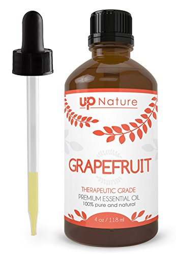 Grapefruit Essential Oil 4 OZ - Premium Quality - 100% Undiluted Pure & Natural Grapefruit Oil - Essential Oils for Weight Loss, Mood and Focus, Appetite Suppression, Household Cleaner- With Dropper
