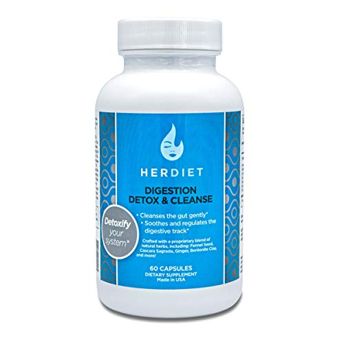 HERdiet Digestion Detox and Cleanse for Women Extra Strength Supplement Pills with Detoxification of Colon and Toxins for Diet Assist