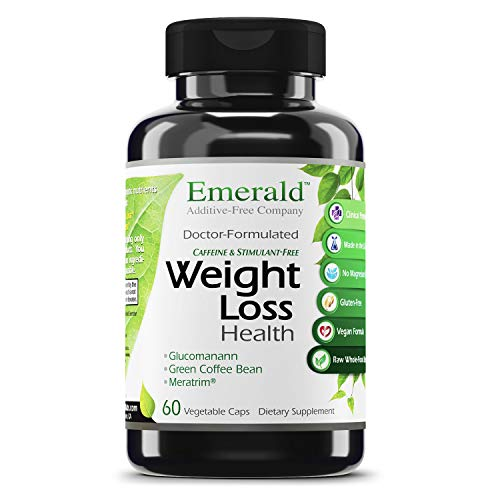 Emerald Labs Weight Loss Health with Green Coffee Bean Extract, Meratrim, Konjac Root to Support Reduction of Body Fat, Support Metabolism Increase and Appetite Control - 60 Vegetable Capsules