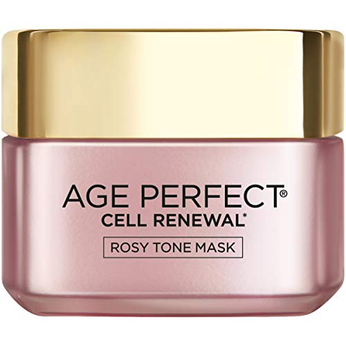 L'Oreal Paris Skincare Age Perfect Rosy Tone Face Mask With Aha & imperial peony for Rosy, Radiant Skin, 1.7 Oz