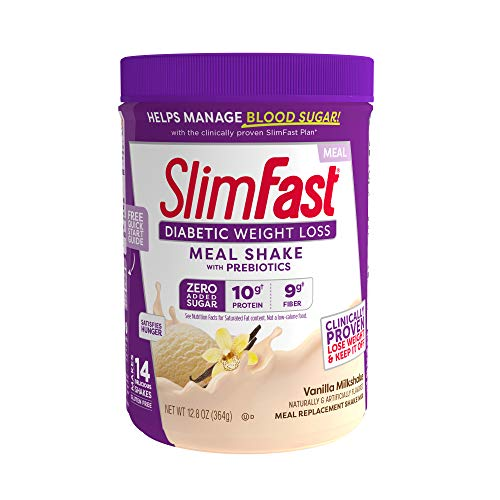 Slimfast Diabetic Weight Loss, Vanilla Milkshake Mix-10g Of Protein-12.8oz (Packaging May Vary)