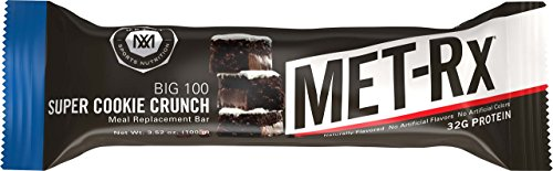 MET-Rx Big 100 Colossal Protein Bars, Great as Healthy Meal Replacement, Snack, and Help Support Energy, Gluten Free, Super Cookie Crunch, With Vitamin A, Vitamin C, and Zinc, 100 g, 9 Count