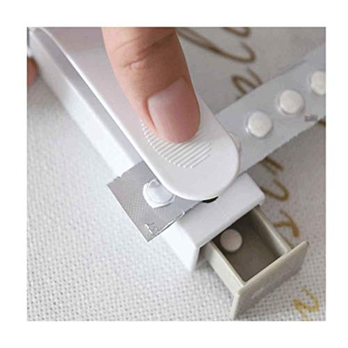 FILOL Pill Remover Tools Tablet Dispenser, Portable Pill Remover Lightweight Tablet Dispenser Easy to Remove Tablets Strong Pocket Pill Puncher 1 Pack (White)