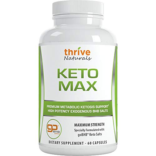 Keto Max - Premium Metabolic Ketosis Support - Maximize Ketogenic Results, Boosts Energy, Reduces Cravings, Helps Supercharge The Fat-Burning Process 60 Capsules (1 Pack)