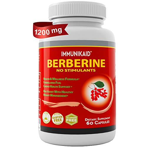 Premium Pure Berberine Supplements 1200mg Capsules-Top Choice Powerful Berberine Hcl For Weight Loss-Lower Cholesterol & Sugar, PCOS & Immune Support Stabilizer-AMPK Metabolic Activator