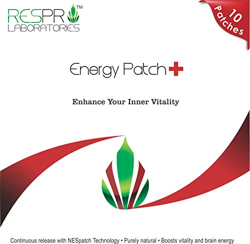 Respro Labs Natural Guarana and CoQ10 Energy Patch Plus, Continuous Release, 10 Patches